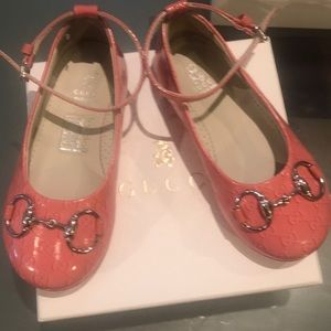 Authentic Pink ballerina Gucci shoes